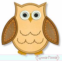 Applique Owl 2 4x4 5x7 6x10
