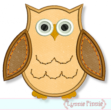Applique Owl 2 4x4 5x7 6x10