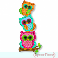 Stacked Owl Trio 4x4 5x7 6x10