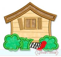 Oz House on Witch Applique 4x4 5x7 6x10 7x11 SVG