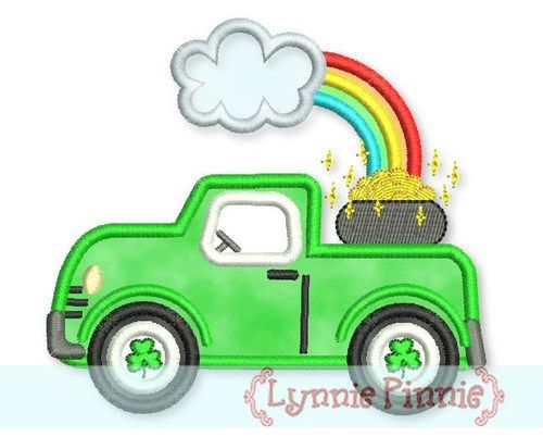 St. Patrick's Day Truck Applique