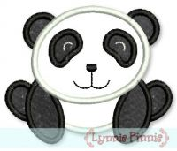 Panda Bear Applique 4x4 5x7 6x10
