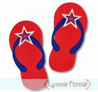 Patriotic Flip Flops - Filled 4x4 5x7