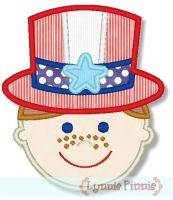 Patriotic Hat Boy 4x4 5x7 6x10