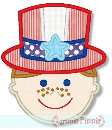 Patriotic Hat Boy 4x4 5x7 6x10