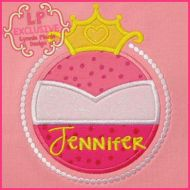 Pink Princess Frame Applique 4x4 5x7 6x10 7x11