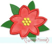 Poinsettia Flower Applique 4x4 5x7