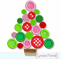 Polka Dot Christmas Tree Applique 4x4 5x7 6x10 7x11
