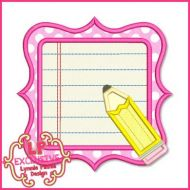 Pretty Pencil Frame 4x4 5x7 6x10 7x11 SVG