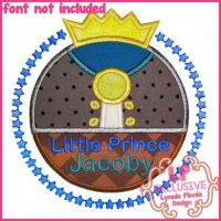 Prince Circle Frame Applique 4x4 5x7 6x10 7x11