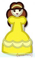 Pretty Princess 3 Applique 4x4 5x7 6x10