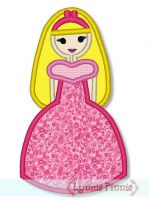 Pretty Princess 4 Applique 4x4 5x7 6x10