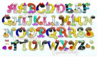 Pretty Princess Alphabet Exclusive LP Embroidery Font - 3 sizes