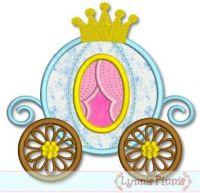 Princess Carriage Applique 4x4 5x7 6x10 7x11 SVG