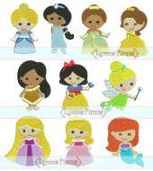 Mini Princess Design Set - 10 Filled Minis in 3 sizes 4x4