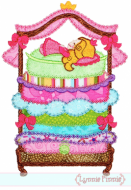 Princess and the Pea Applique - Deco 5x7 6x10