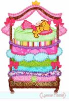 Princess and the Pea Applique - Deco 5x7 6x10