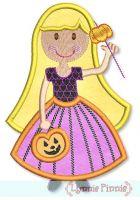 Princess Pumpkin Applique 4x4 5x7
