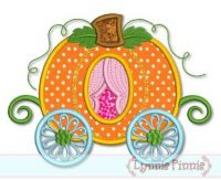 Pumpkin Carriage Applique 4x4 5x7 6x10 7x11 SVG