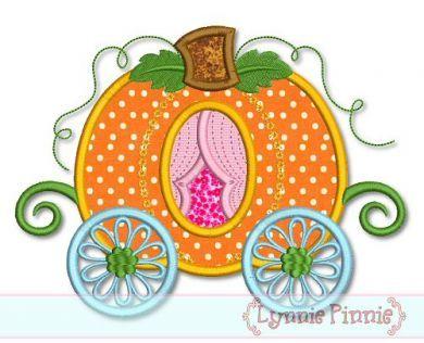 Pumpkin Carriage Applique 4x4 5x7 6x10 7x11 SVG