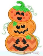 Pumpkin Stack Applique 4x4 5x7 6x10 SVG