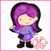 Punky Girl Cutie 1 Applique 4x4 5x7 6x10