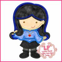 Punky Girl Cutie 2 Applique 4x4 5x7 6x10