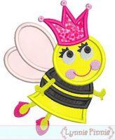 Queen Bee Applique 4x4 5x7 6x10