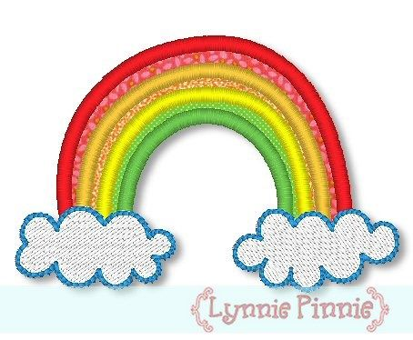 Rainbow Applique 4x4 & 5x7