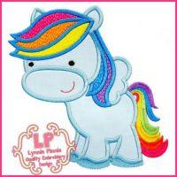 Rainbow Pegasus Pony 5x7 6x10 7x11 SVG