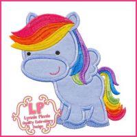 Rainbow Pegasus Pony 2 4x4 5x7 6x10 7x11 SVG