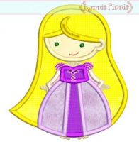 Cutie Princess as Rapunzel Applique (2) 4x4 5x7 6x10 SVG