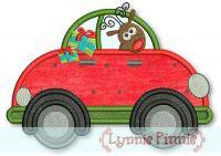 Applique Reindeer with Presents Car 4x4 5x7