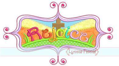 Rejoice Easter Frame Applique 4x4 5x7 6x10 SVG