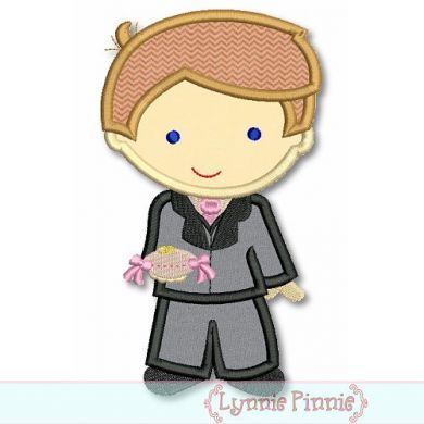Ring Bearer Boy Cutie Applique 4x4 5x7 6x10 SVG