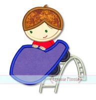 Roller Coaster Boy Applique 4x4 5x7 6x10 7x11 SVG