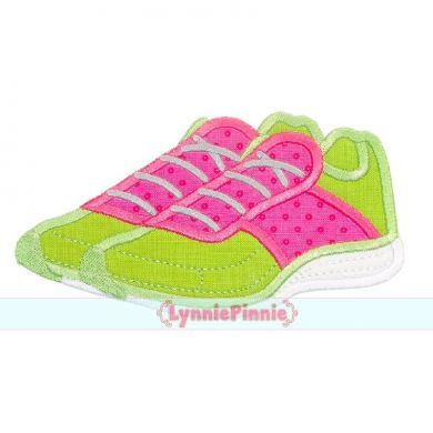 Running Shoes Applique 4x4 5x7 6x10 7x11 SVG