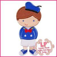 Sailor Boy Applique 4x4 5x7 6x10 SVG