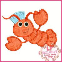 Sailor Lobster Applique 4x4 5x7 6x10