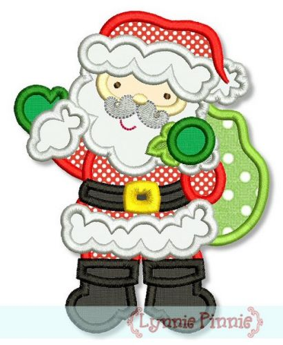 Santa Claus Applique 4x4 5x7 6x10