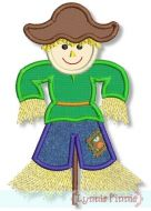 Scarecrow Boy Applique (optional fringe) 4x4 5x7 6x10