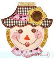 Scarecrow Girl Face (optional fringe) 4x4 5x7 6x10