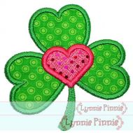 Shamrock Heart Applique 4x4 5x7 6x10 7x11 SVG