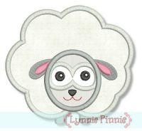 Sheep Applique 4x4 5x7