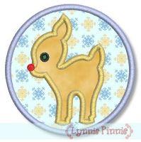 Reindeer with Frame Zig Zag & Satin 4x4 5x7 6x10