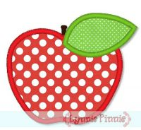 Simple Apple Applique 4x4 5x7
