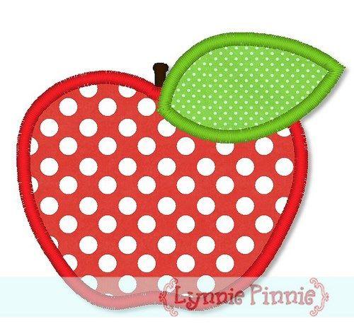 Simple Apple Applique 4x4 5x7