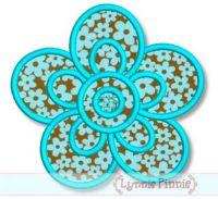 Simple Flower Applique Applique Machine Embroidery Design File 4x4 5x7 6x10