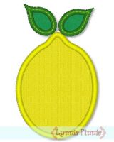 Simple Lemon Applique 4x4 5x7