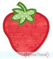 Simple Strawberry Applique 4x4 5x7